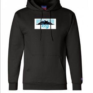 ICEY Champion Black Mountain Hooded Sweatshirt